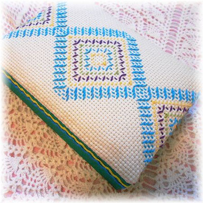 Needle work Fabric box (Sweden)