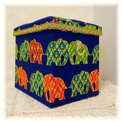Fabric Box-Elephants in Thailand-2