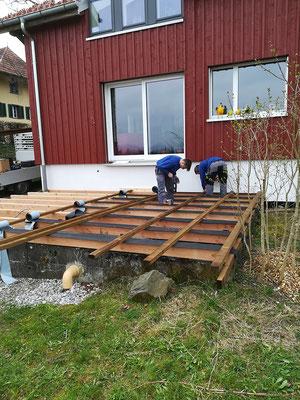Terrassenunterkonstruktion Holzbau von Ihrem Spezialisten im Oberaargau - Holzbau Peter Beck AG Niederönz