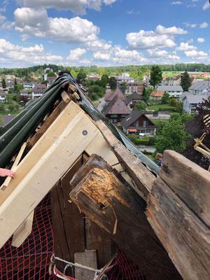 Reparatur Dachsparren Kirche Herzogenbuchsee