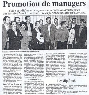 L'Est Républicain 24 mars 2001