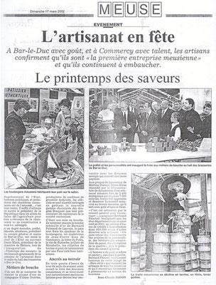 L'Est Républicain 17 mars 2002
