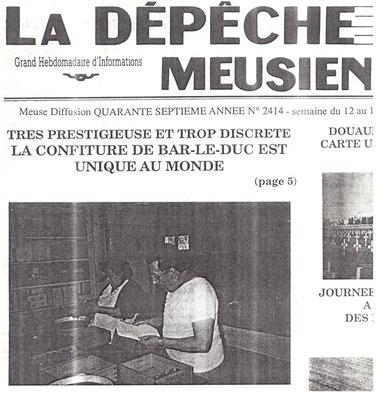La Dépêche Meusienne n° 2414, 12 juin 1993