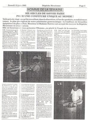 La Dépêche Meusienne n° 2414 samedi 12 juin 1993