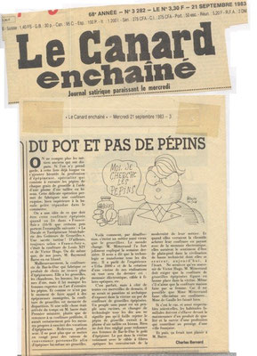 Le Canard enchaîné mercredi 21 septembre 1983