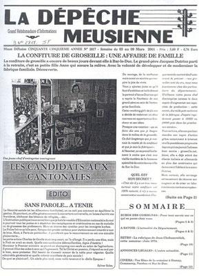 La Dépêche Meusienne n° 2817 du 03 au 09 mars 2001