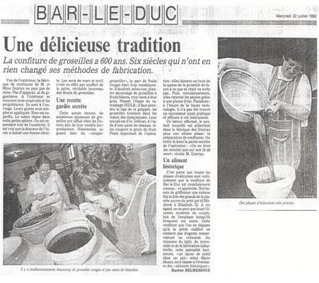 L'Est Républicain mercredi 22 juillet 1992