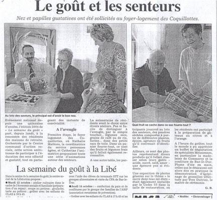 L'Est Républicain 12 octobre 2004