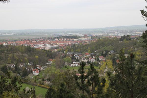 Blick auf Arnstadt vom Königsstuhl
