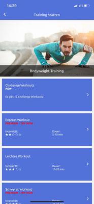 Workout auswählen