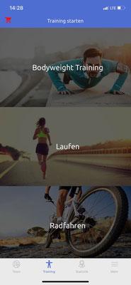 Trainingsart auswählen