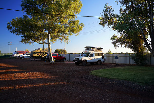 unser Campingplatz in Laverton