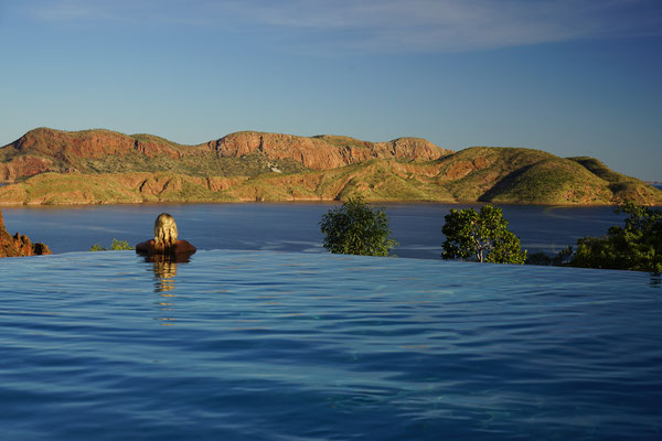 der Infinity Pool am Lake Argyle