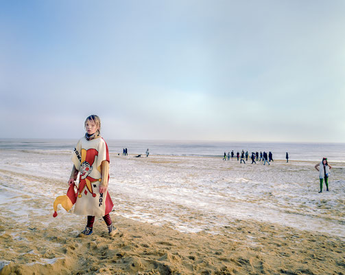 Christmas swim, The Denes Beach, Southwold