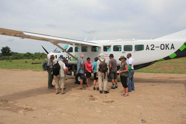 Flug 200km auf einer Höhe von ca. 150m übers Okwangodelta