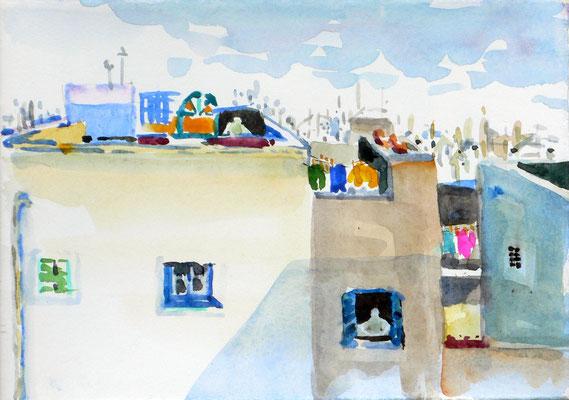05 Essaouira - Hotel Baladin - Blick von der Dachterrasse aus