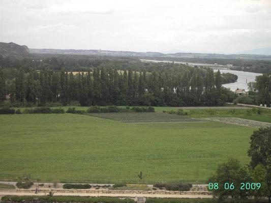 Bei Avignon - Übersicht Rhone