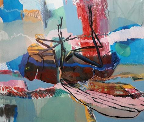o.T., 2017, Öl auf LW, 100 x 140 cm