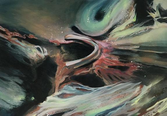 o.T. | 70 x 100 cm | Ölmix auf LW | 2021