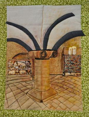 Krypta_St. Michael Fulda_Artquilt by Karin Flacke
