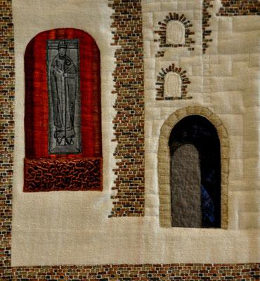 Grablege eines Bischofs_Artquilt by Karin Flacke