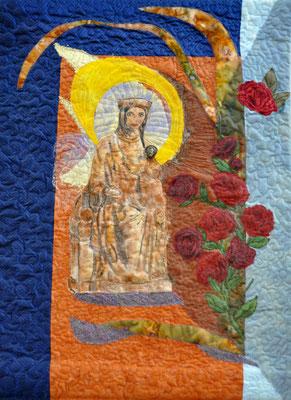 Madonna_Vorbild Salzwedeler Madonna_13 Jhd_Artquilt by Karin Flacke