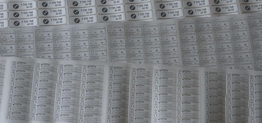 Laserbeschriftung Etiketten
