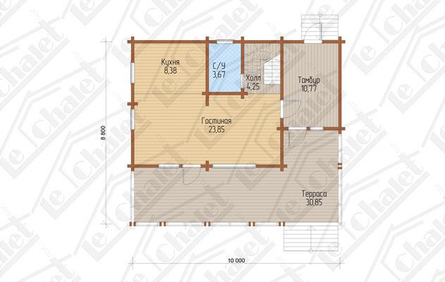 Le Chalet 108 Поэтажный план 1 этажа