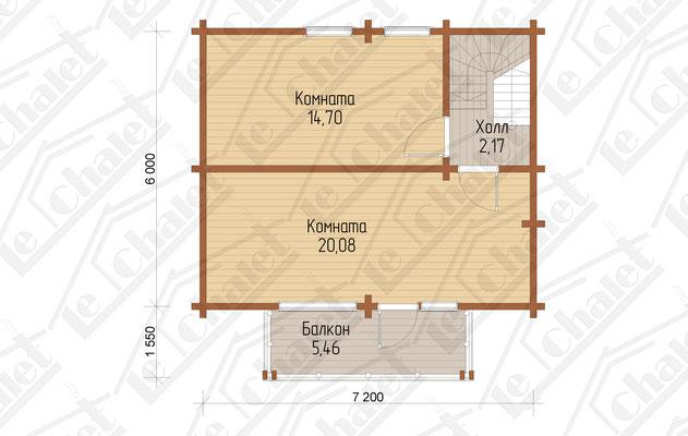 Le Chalet 108 Поэтажный план мансардного этажа
