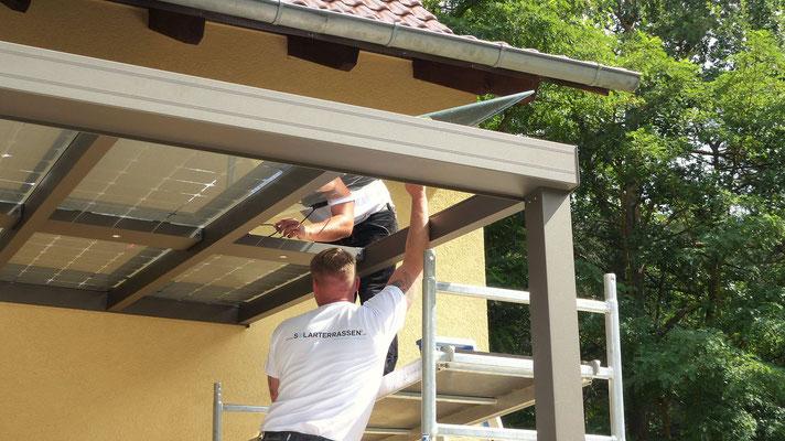Terrassenüberdachung Aufbauservice
