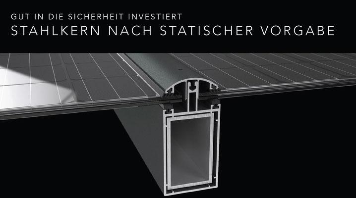 Terrassendach Solarmodule