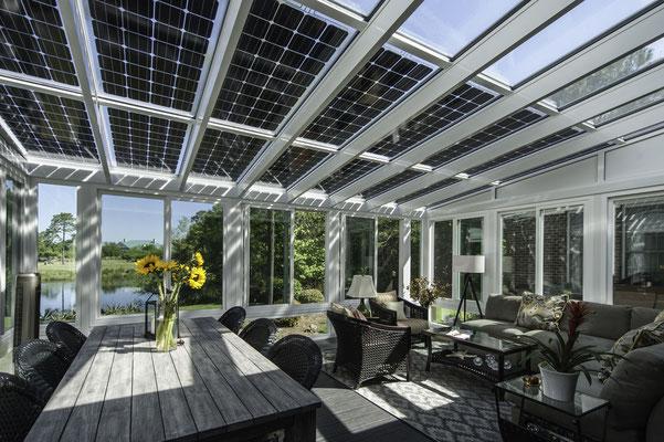Wintergarten mit Solar
