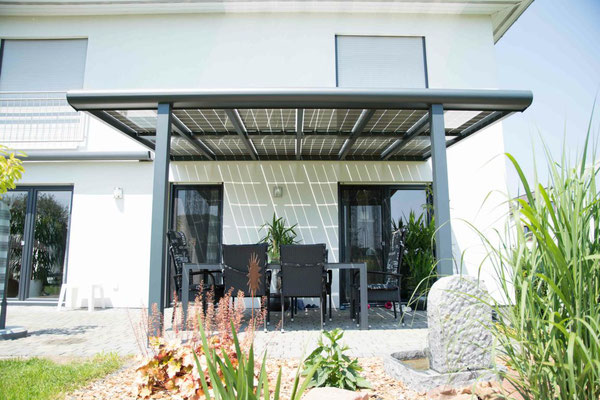Terrassenüberdachung freitragend