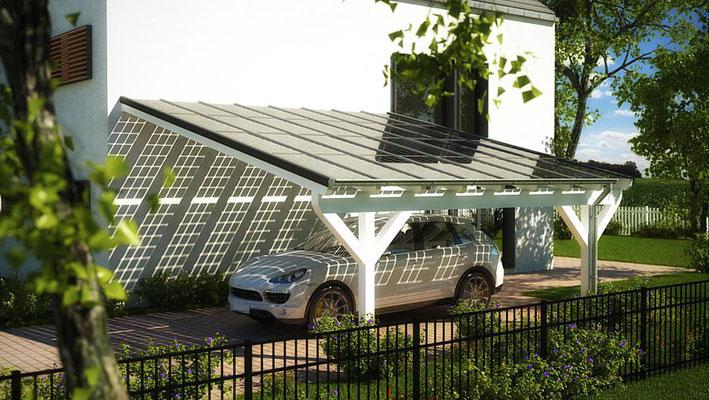 Bilder premium solarglas terrassen berdachung for Solar carport preise