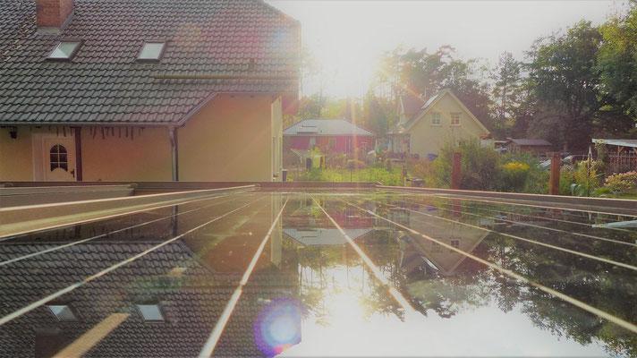 Solarglas auf Terrasse