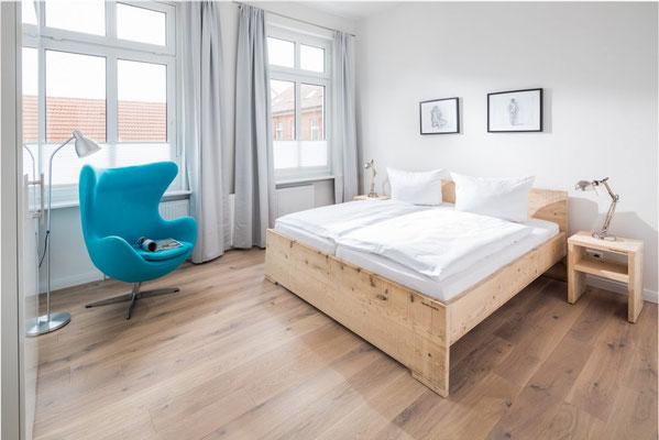 Ferienwohnung Norderney Schlafzimmer 1 Loft D im Strandloft 2 © norderney.top - Ferienwohnungen auf Norderney