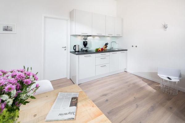 Ferienwohnung Norderney Küchenbereich  Loft D im Strandloft 2 © norderney.top - Ferienwohnungen auf Norderney
