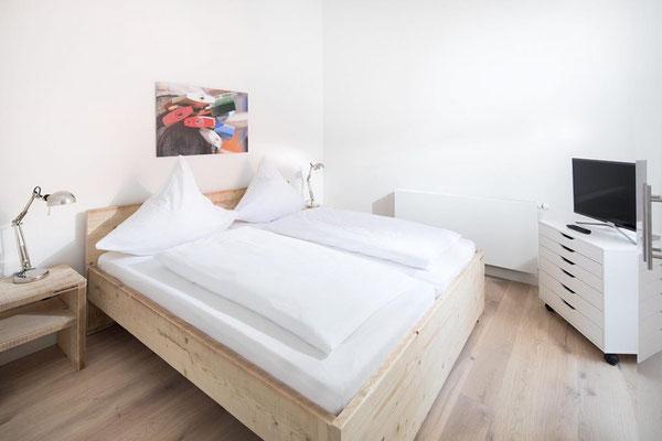 Ferienwohnung Norderney Schlafzimmer Loft A im Strandloft 2 © norderney.top - Ferienwohnungen auf Norderney
