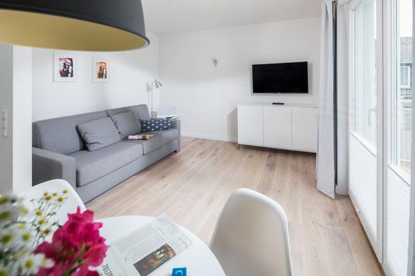 Ferienwohnung Norderney Wohnbereich Loft C im Strandloft 2 © norderney.top - Ferienwohnungen auf Norderney