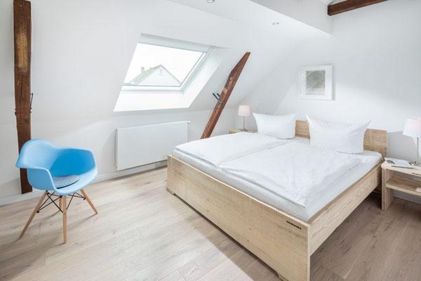 Ferienwohnung Norderney Schlafzimmer 2 im Loft E im Strandloft 2 © norderney.top - Ferienwohnungen auf Norderney