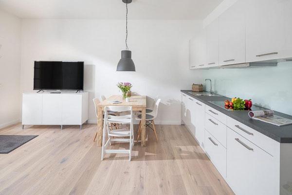 Ferienwohnung Norderney Ess- und Küchenbereich Loft A im Strandloft 2 © norderney.top - Ferienwohnungen auf Norderney