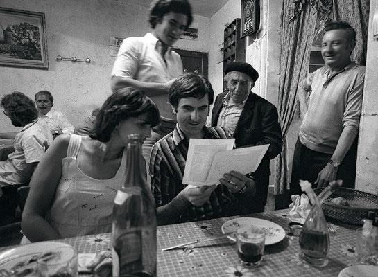 Au restaurant des bergers où nous nous sommes installés comme chez nous, Pierre Le Gall, Roland Laboye et Madame.