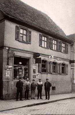 Schlosserei Jean Müller, Frankfurter Str. 11, ca. 1925 (Stadtarchiv Bad Vilbel)