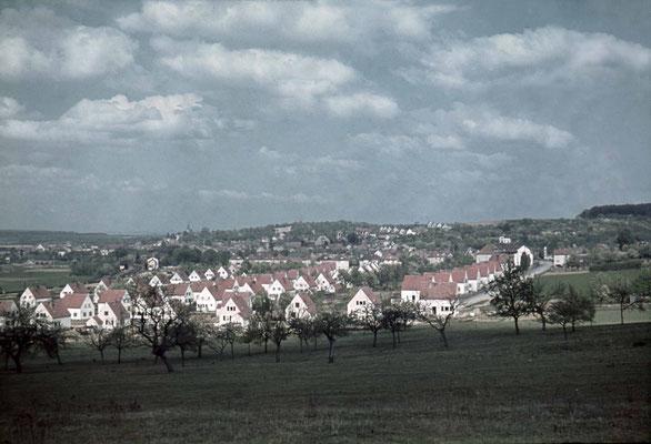 Blick auf die Häuser der Sprenger-Siedlung, ca. 1940 (Stadtarchiv, Nachlass Muhl).