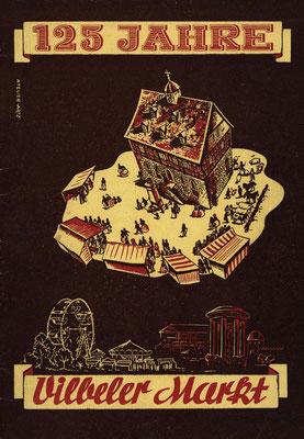 125 Jahre Vilbeler Markt 1950. Titelblatt der Festschrift (Stadtarchiv Bad Vilbel)