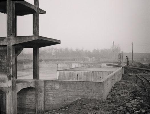 Das Freibad im Rohbau Winter 1936 (Bestand Otto Weihl)