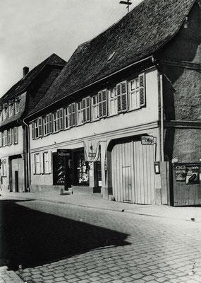Textil Sussmann, Frankfurter Str. 28 ca. 1930 (Stadtarchiv Bad Vilbel)
