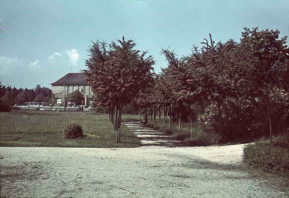 Kurpark mit dem Kurhaus ca. 1940, (Nachlass Muhl) - Bearbeitung Wolfram Dietz