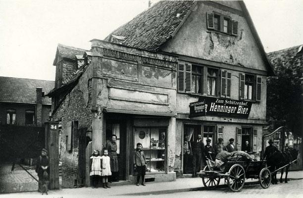 Gaststätte Zum Schützenhof, Frankfurter Str. 34, ca. 1925 (Stadtarchiv Bad Vilbel)