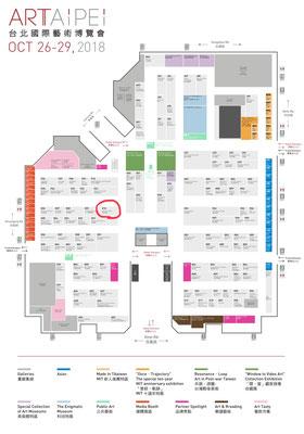 世界貿易センタービル内、展示会場の地図です。
